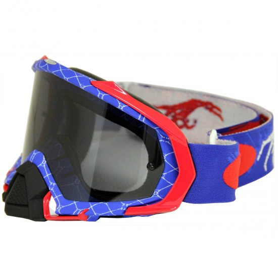 Maschera / Occhiali OAKLEY Mayhem Pro MX Raper Red / White / Blue / Dark Grey