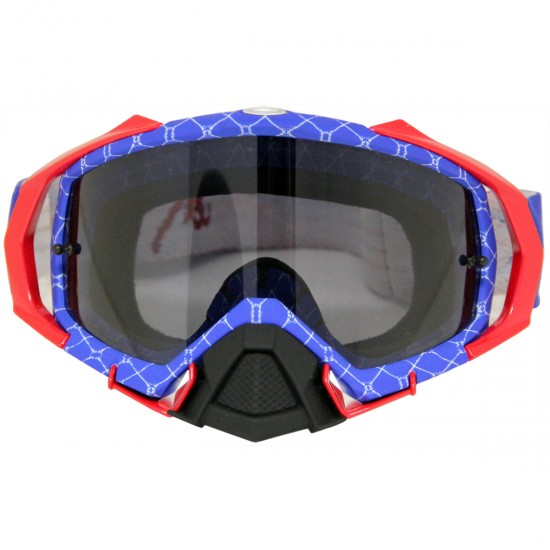 OAKLEY Mayhem Pro MX Raper Red / White / Blue / Dark Grey Mask / Goggle