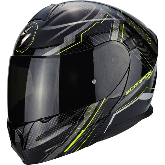 Capacete SCORPION Exo-920 Satellite Black / Yellow Fluo