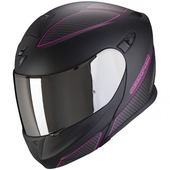 Helm SCORPION Exo-920 Flux Matt Black / Pink