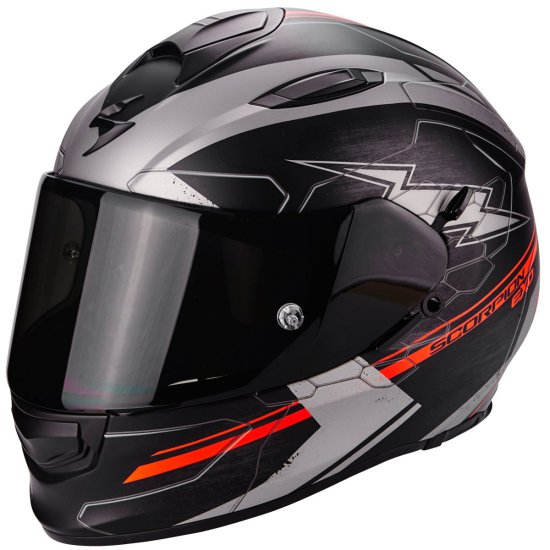 Helm SCORPION Exo-510 Air Cross Matt Black / Silver / Red