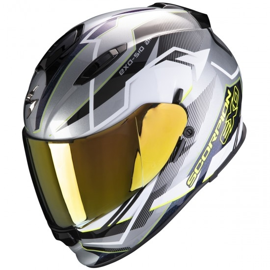 Casco SCORPION Exo-510 Air Balt Silver / White / Yellow Fluo