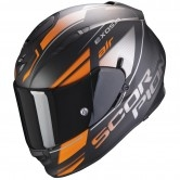SCORPION Exo-510 Air Ferrum Matt Black / Orange / Silver
