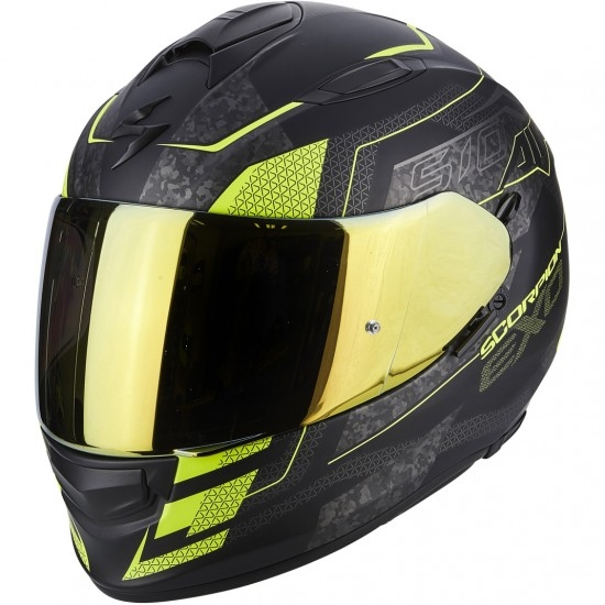 SCORPION Exo-510 Air Galva Matt Black / Yellow Fluo Helmet