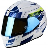 SCORPION Exo-510 Air Galva Pearl White / Blue
