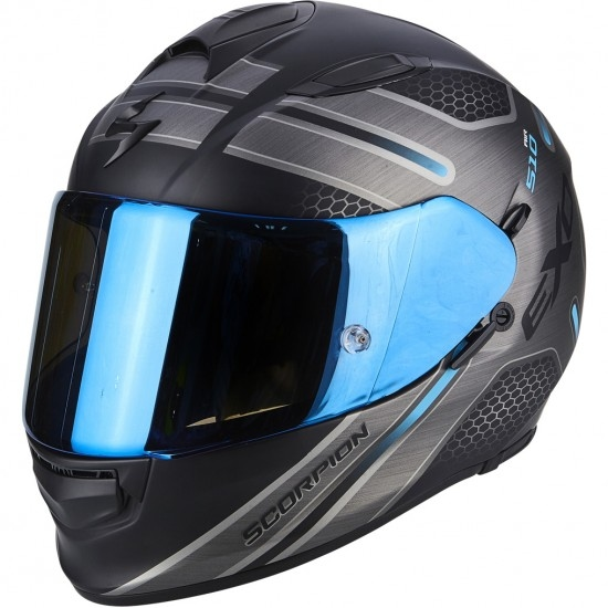Casco SCORPION Exo-510 Air Route Matt Black / Blue