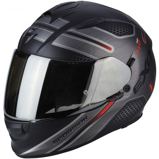 Casco SCORPION Exo-510 Air Route Matt Black / Red