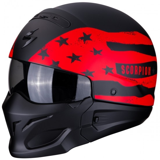 Casco SCORPION Exo-Combat Rookie Matt Black / Red