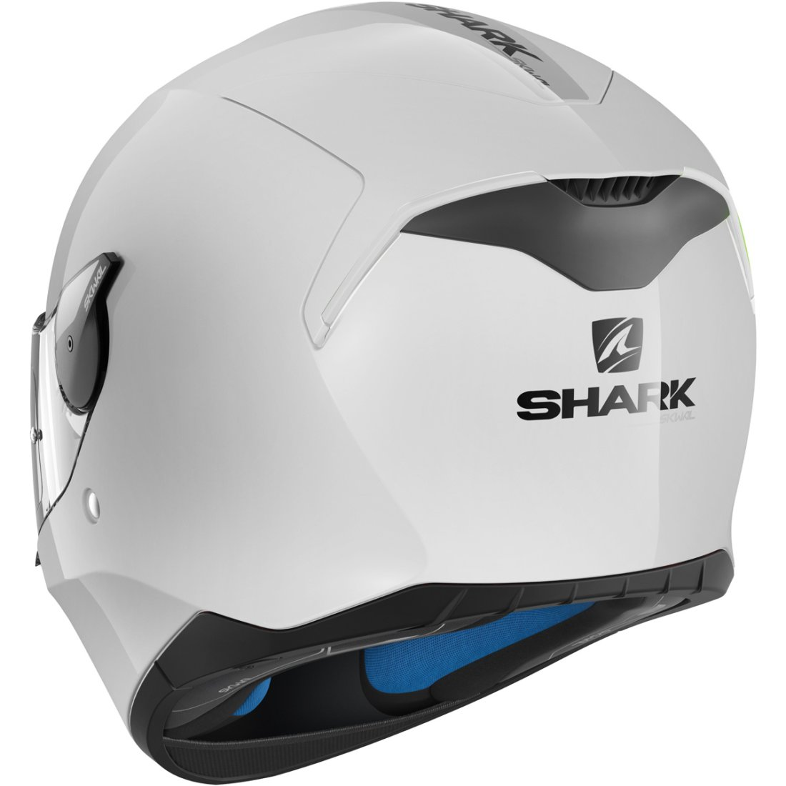 shark d skwal blank white azur helmet motocard. Black Bedroom Furniture Sets. Home Design Ideas