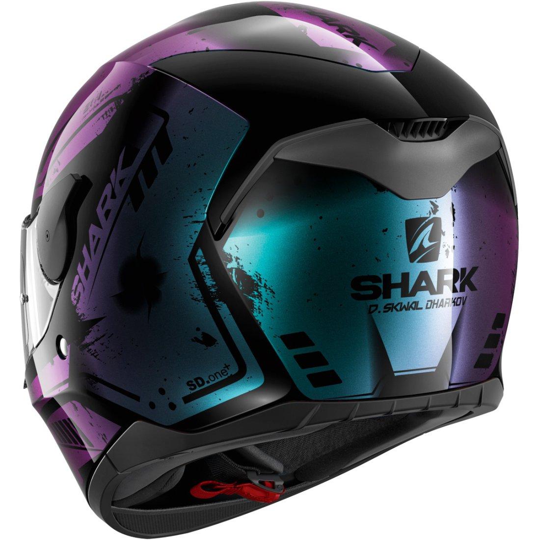 casque shark d skwal dharkov black violet glitter motocard. Black Bedroom Furniture Sets. Home Design Ideas