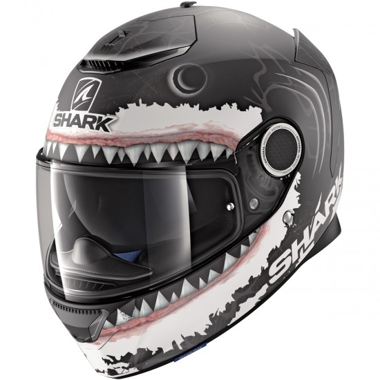 Casco SHARK Spartan Replica Lorenzo White Shark Mat Black / White / Anthracita