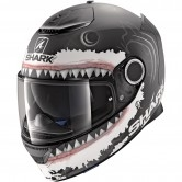 SHARK Spartan Replica Lorenzo White Shark Mat Black / White / Anthracita