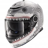 SHARK Spartan Replica Lorenzo White Shark Mat Silver / White / Anthracite