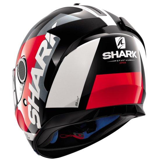 Casco SHARK Spartan Apics Black / Red / Anthracite
