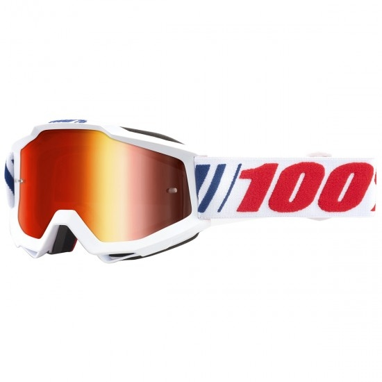 100% Accuri AF066 Mirror Red Mask / Goggle