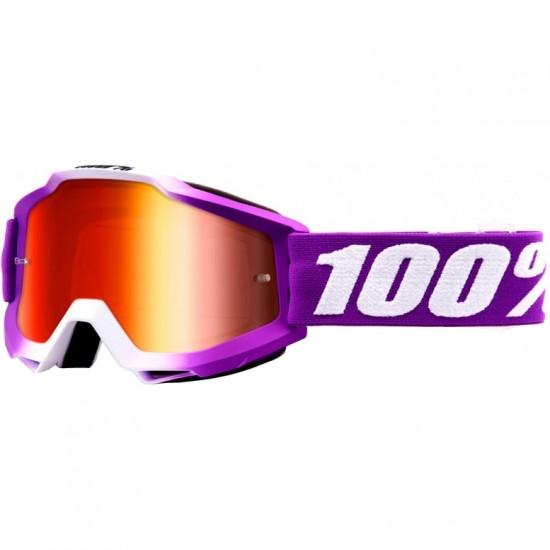 100% Accuri Framboise Mirror Red Mask / Goggle