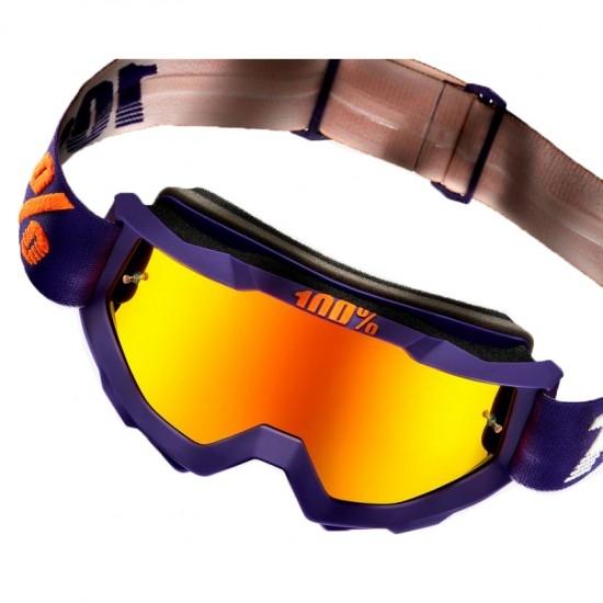 100% Accuri Grib Mirror Red Mask / Goggle