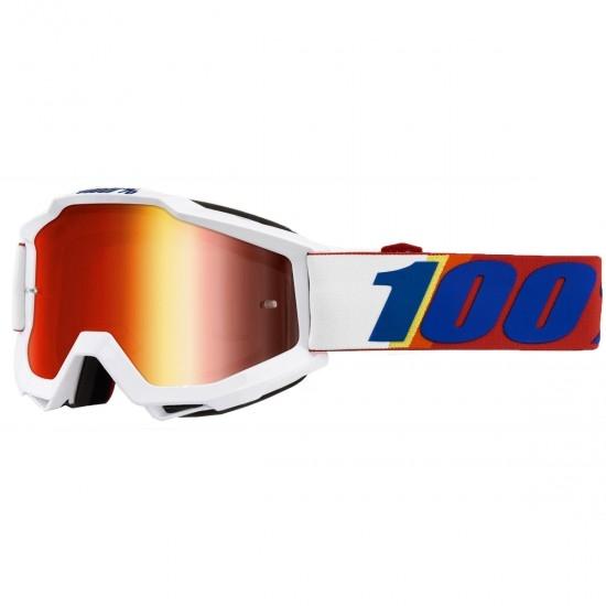 100% Accuri Minima Mirror Red Goggles