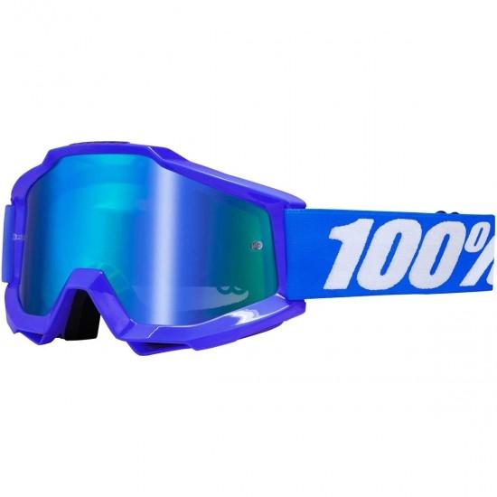 100% Accuri Reflex Blue Mirror Blue Mask / Goggle