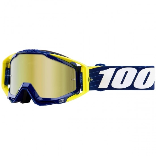 Maschera / Occhiali 100% Racecraft Bibal Navy Mirror Gold