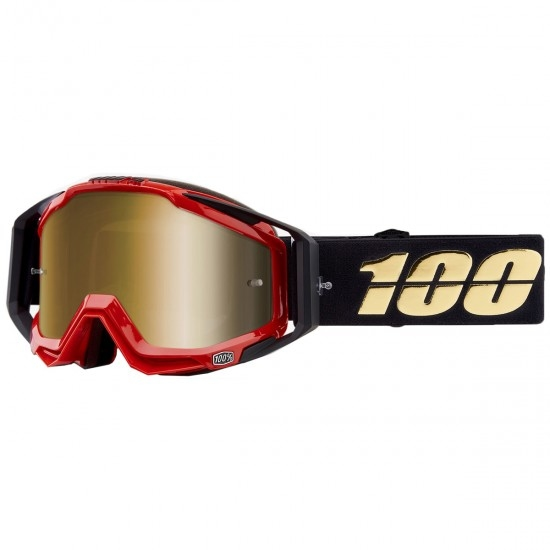 100% Racecraft Hot Rod Mirror Gold Goggles