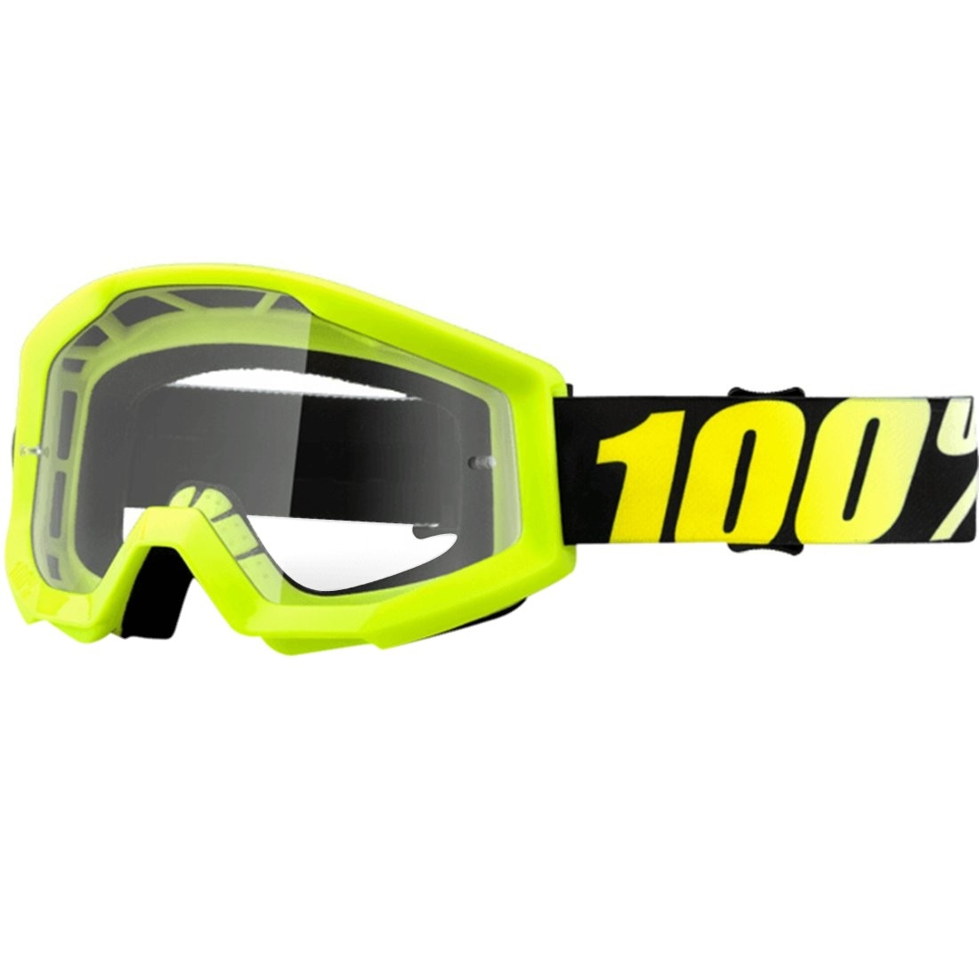 nouvelles variétés sélectionner pour dernier achat authentique Lunettes 100% Strata Neon Yellow