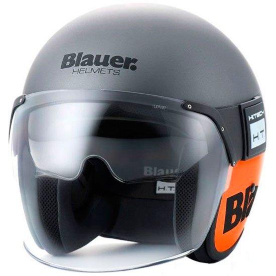 Helm BLAUER Pod Matt Titanium / Orange