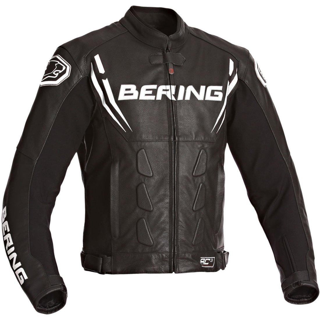Lederjacke Bering Sting R Schwarz Rot