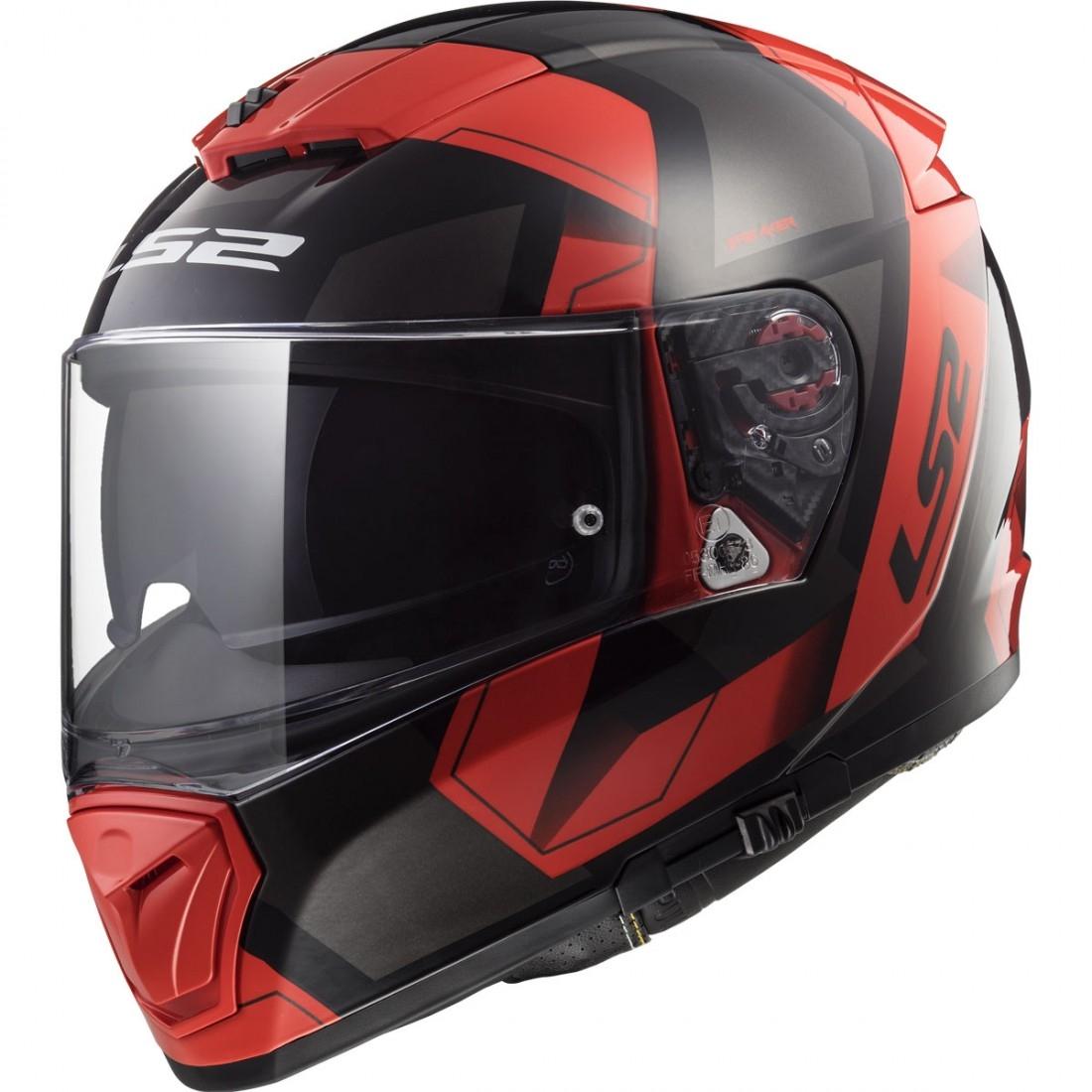 helm ls2 ff390 breaker physics black red motocard. Black Bedroom Furniture Sets. Home Design Ideas
