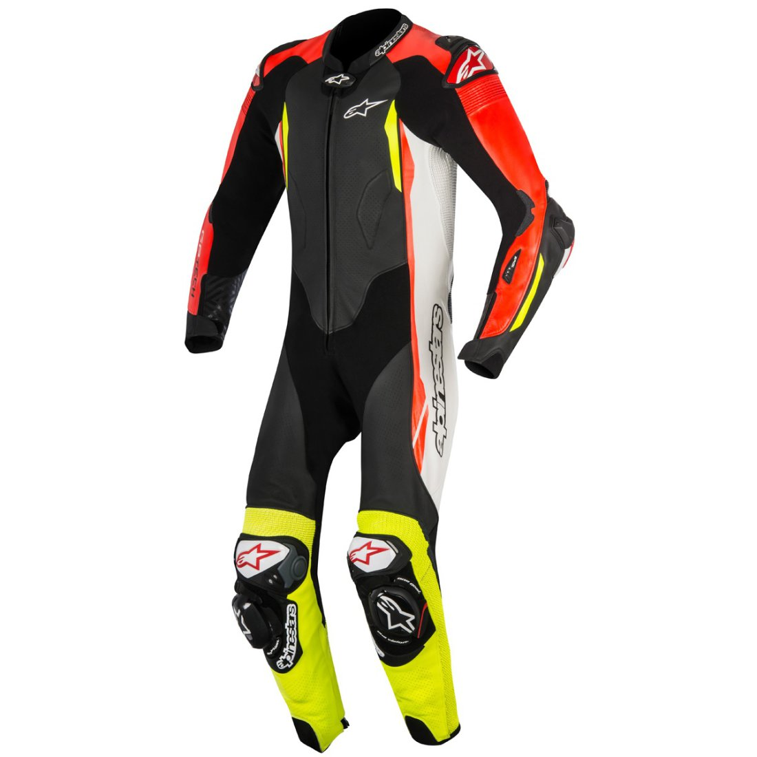 alpinestars gp tech v2 professional for tech air black white red fluo yellow fluo suit. Black Bedroom Furniture Sets. Home Design Ideas