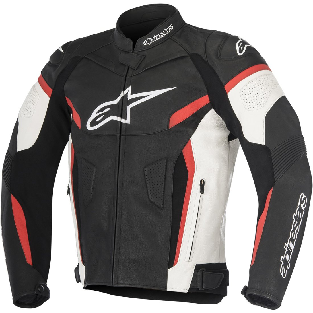 alpinestars gp plus r v2 black white red jacket motocard. Black Bedroom Furniture Sets. Home Design Ideas