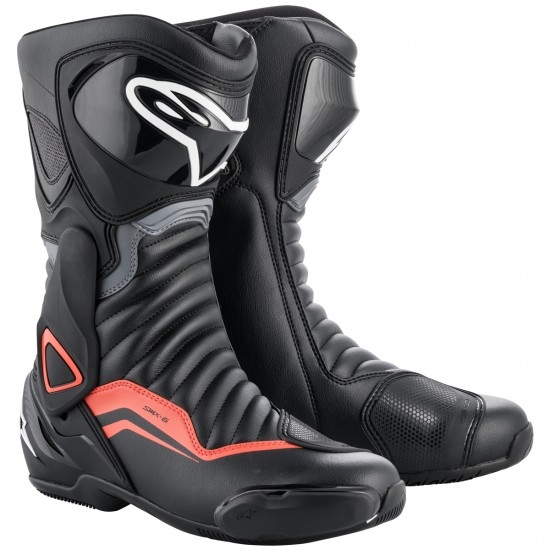 ALPINESTARS SMX-6 V2 Black / Grey / Red Fluo Boots