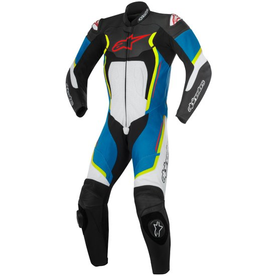 Traje / Mono ALPINESTARS Motegi V2 Professional Black / White / Blue / Yellow Fluo