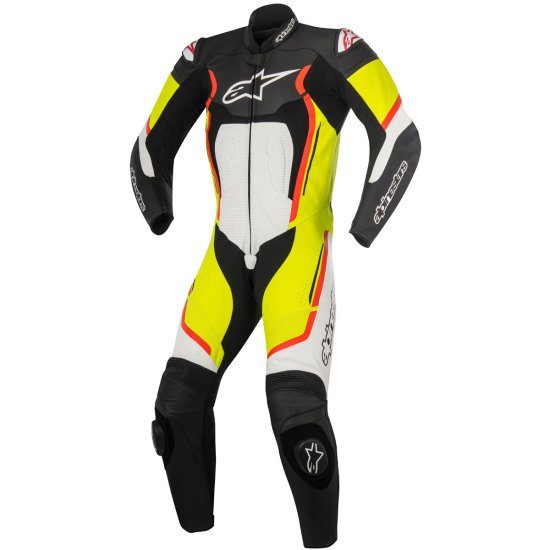 Traje / Mono ALPINESTARS Motegi V2 Professional Black / White / Yellow Fluo / Red Fluo