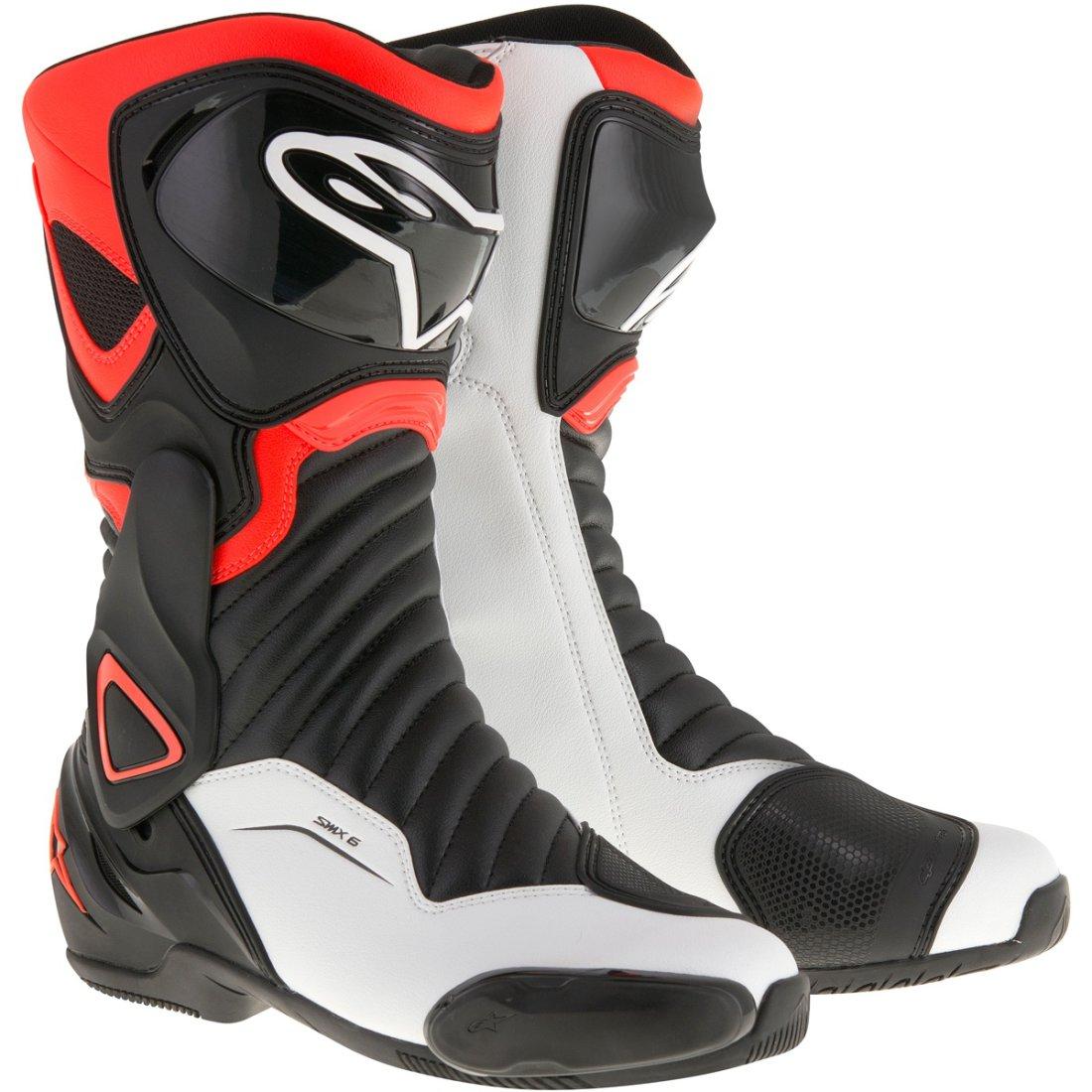 alpinestars smx 6 v2 black red fluo white boots