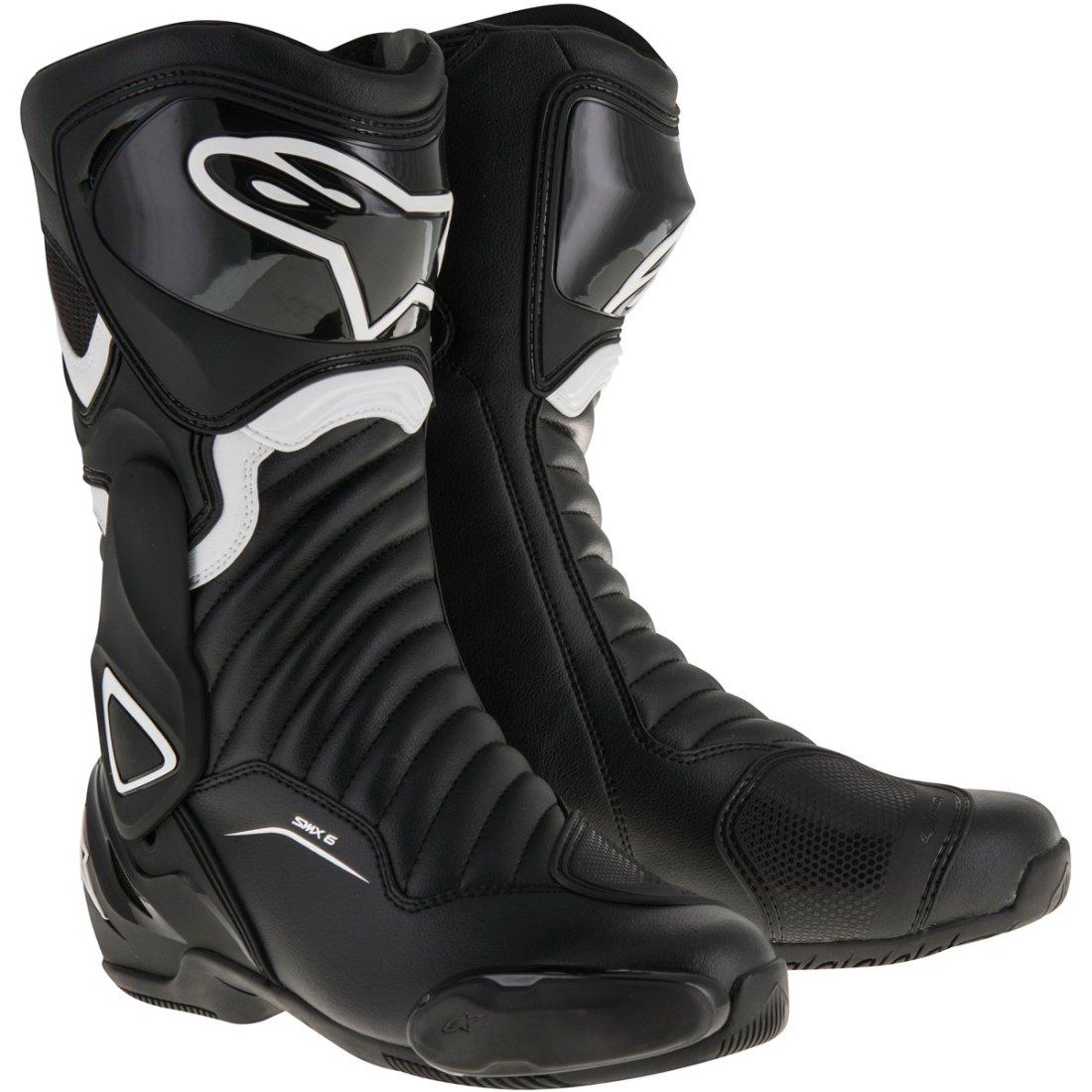 alpinestars smx 6 v2 black white boots motocard. Black Bedroom Furniture Sets. Home Design Ideas