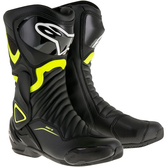 Bottes ALPINESTARS SMX-6 V2 Black / Yellow Fluo