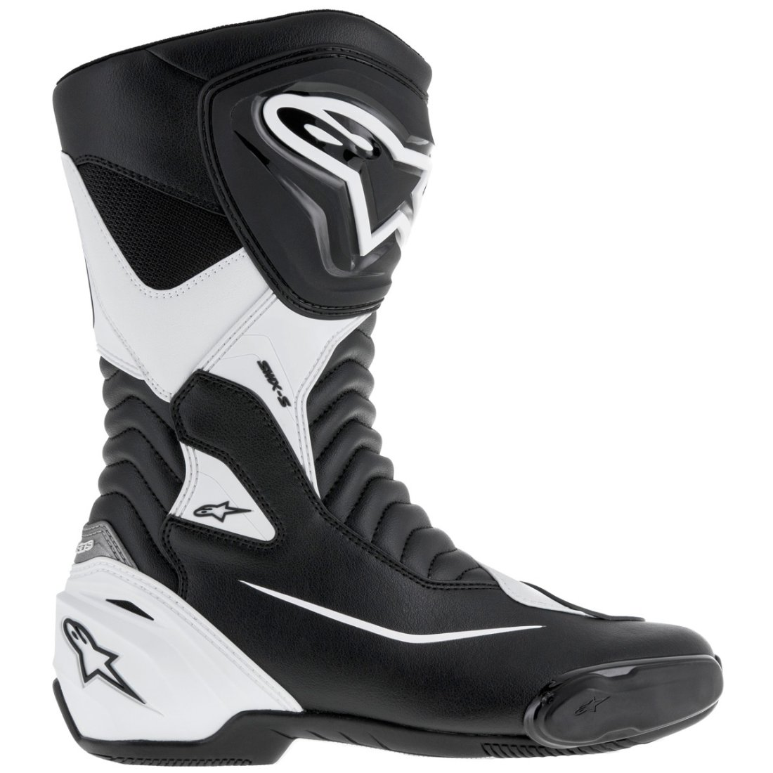 bottes alpinestars smx s black white motocard. Black Bedroom Furniture Sets. Home Design Ideas