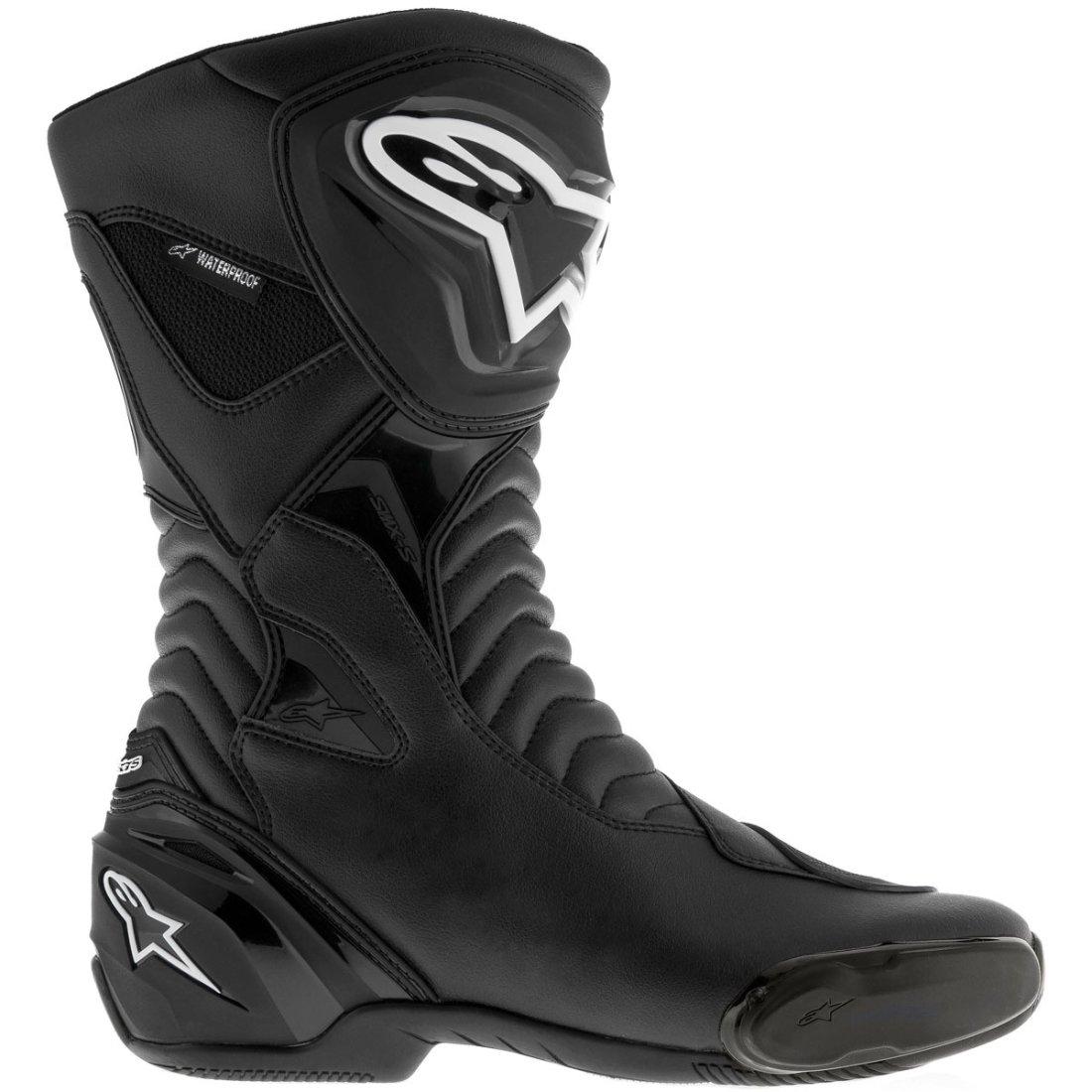 alpinestars smx s waterproof black boots motocard. Black Bedroom Furniture Sets. Home Design Ideas