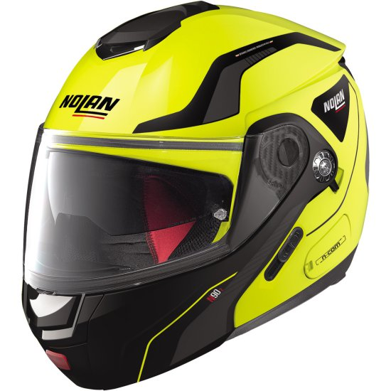 Casque NOLAN N90-2 Straton N-Com Led Yellow