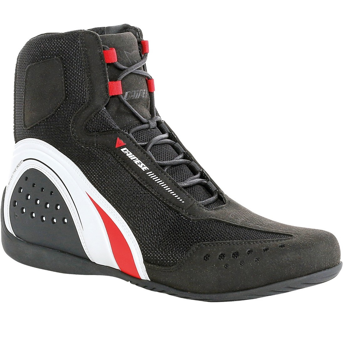 DAINESE Motorshoe Air JB Black White Red Boots