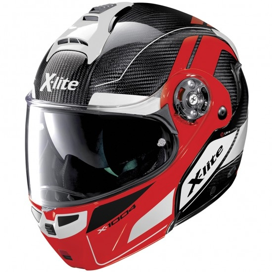 Casco X-LITE X-1004 Ultra Carbon Charismatic N-Com Carbon / Corsa Red