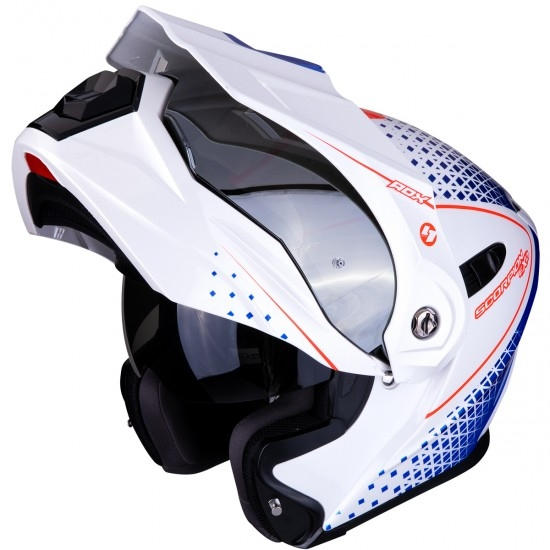 Casco SCORPION ADX-1 Horizon Pearl White / Red / Blue