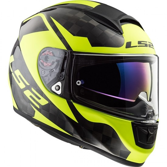Casco LS2 FF397 Vector C Evo Shine Carbon H-V Yellow