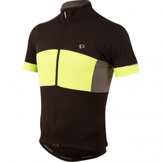 PEARL IZUMI Elite Escape Semi-Form Black / Yellow Screaming Jersey