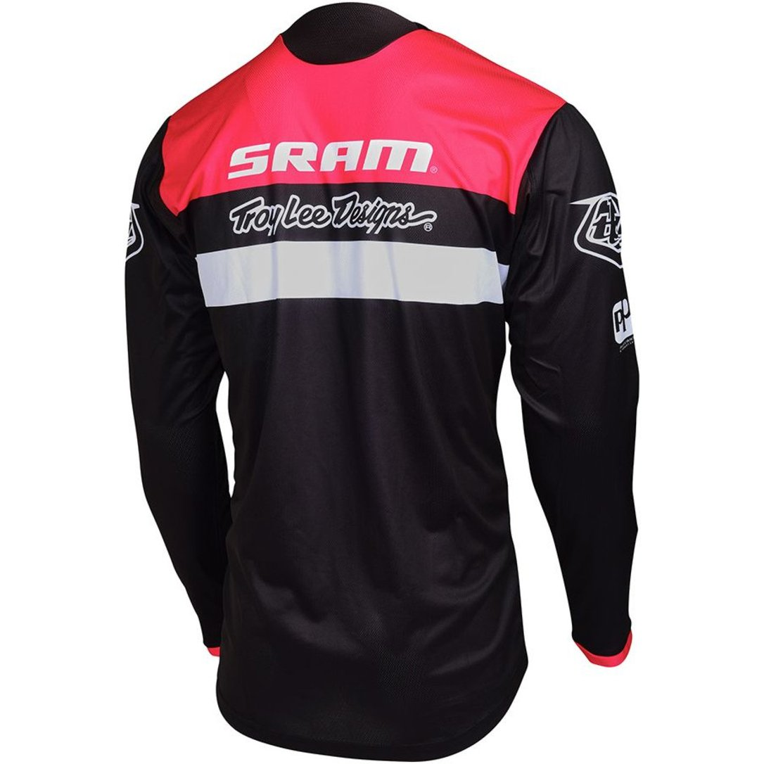 maillot troy lee designs sprint junior sram tld racing black motocard. Black Bedroom Furniture Sets. Home Design Ideas