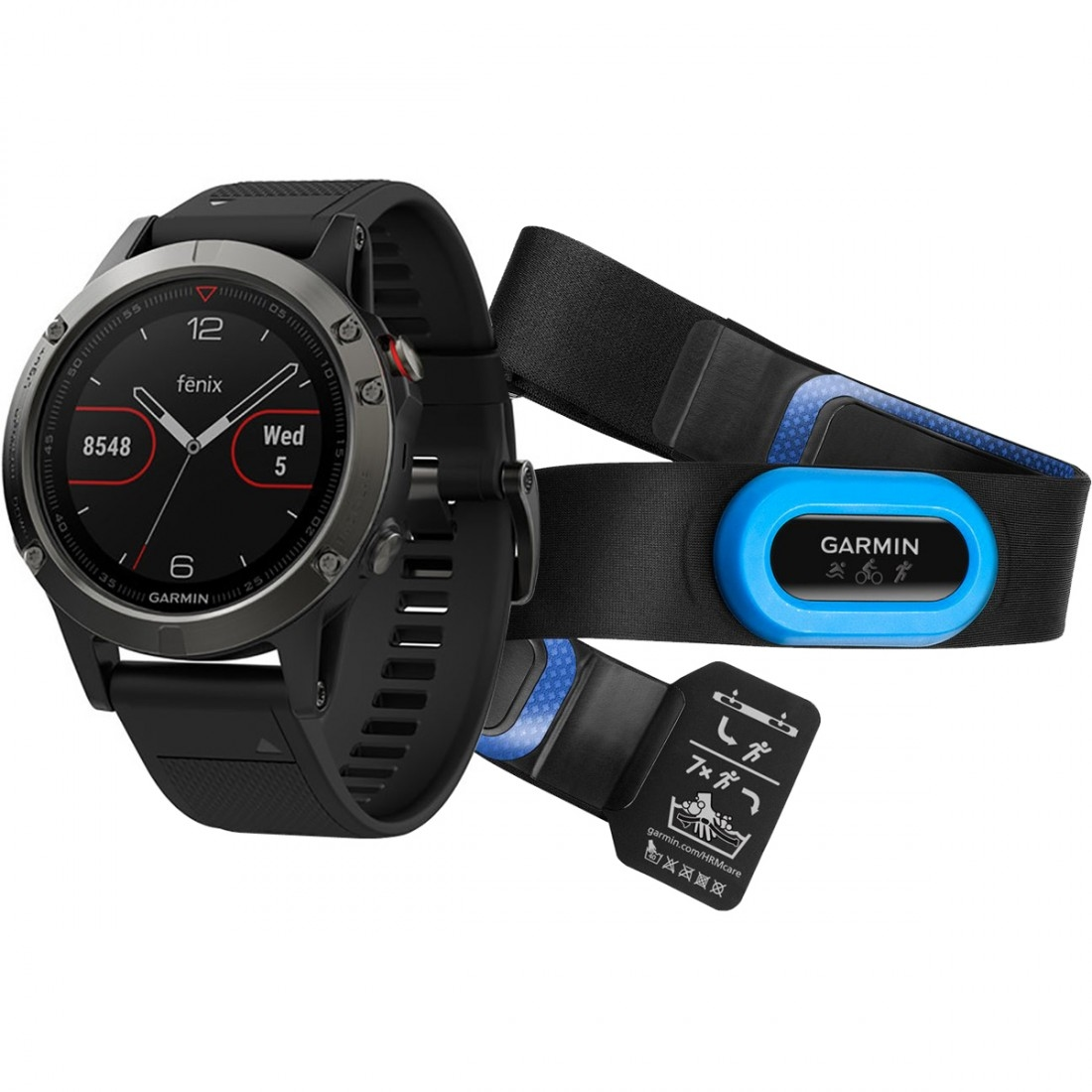 Black Slate Band : Contachilometri garmin fēnix hrm slate gray with black