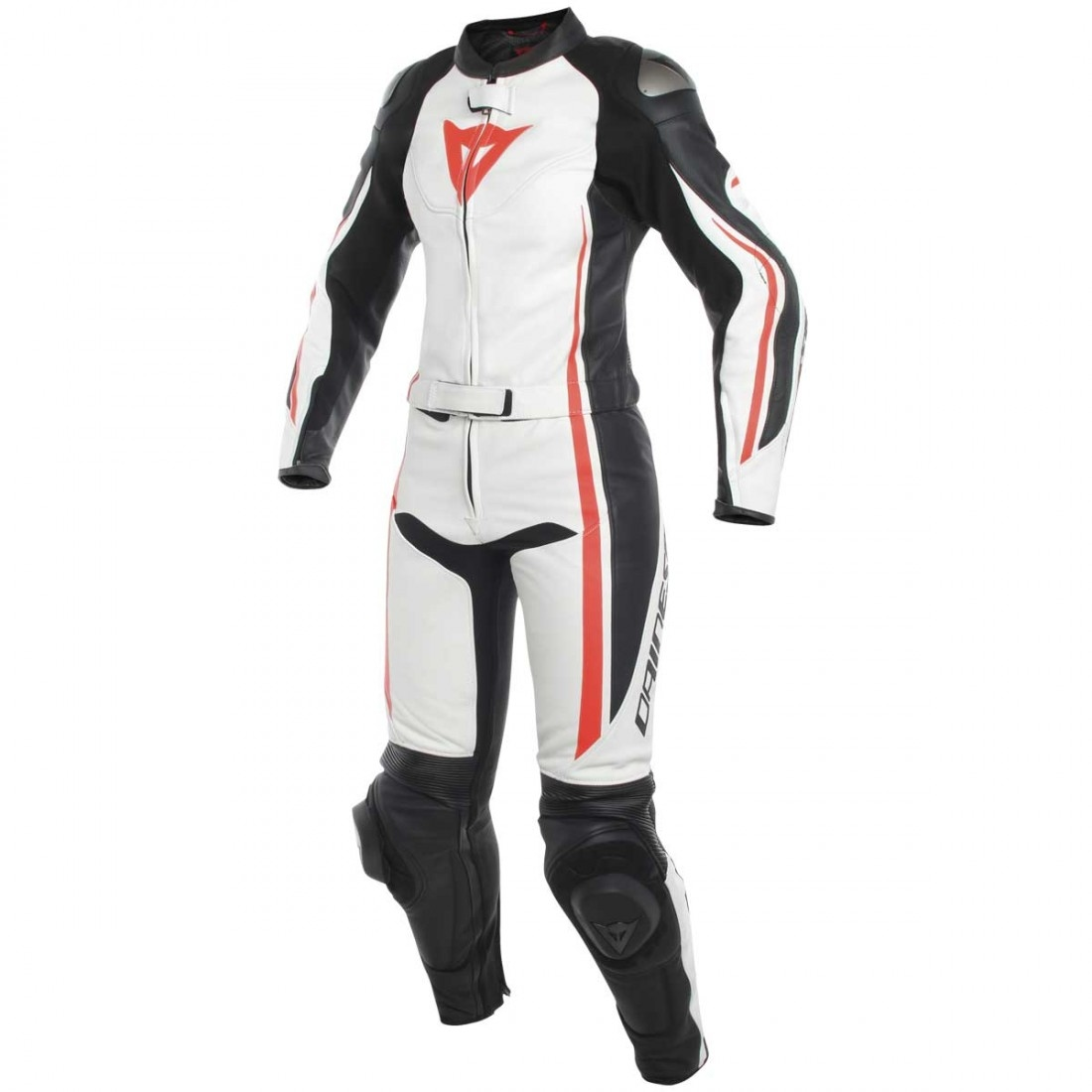 dainese assen lady white black red fluo suit motocard. Black Bedroom Furniture Sets. Home Design Ideas