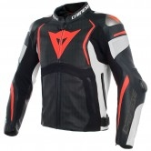 DAINESE Mugello Estiva Black / White / Fluo-Red