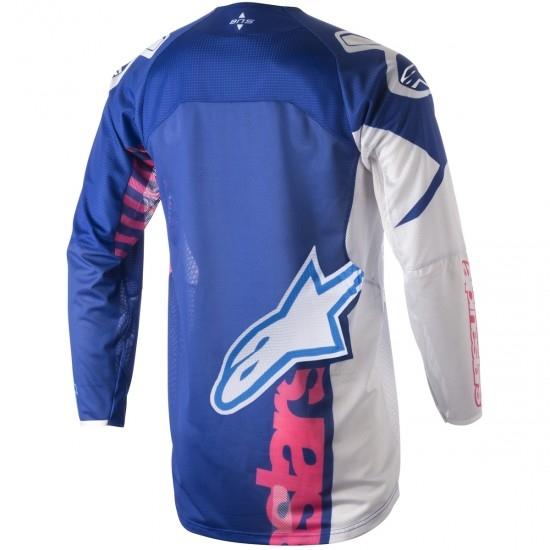 Jersey ALPINESTARS Techstar 2018 Venom Blue / Pink Fluo / White